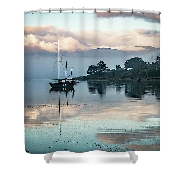 Morning Fog Is Lifting-2 Shower Curtain
