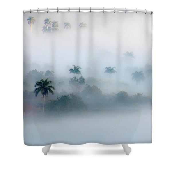 Morning Fog, Vinales Valley Shower Curtain