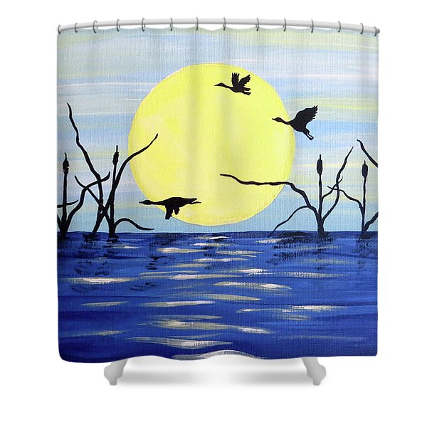 Morning Geese Shower Curtain
