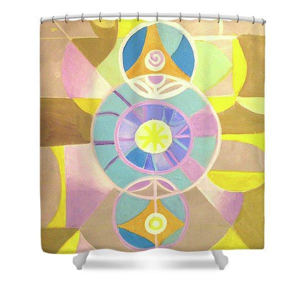 Morning Glory Geometrica Shower Curtain