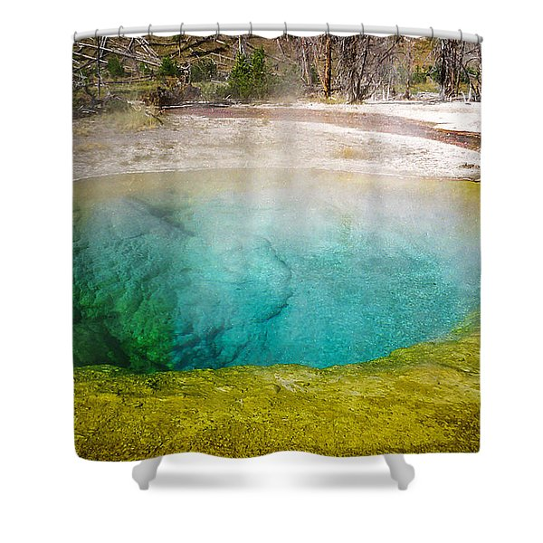 Morning Glory Pool Yellowstone National Park Shower Curtain