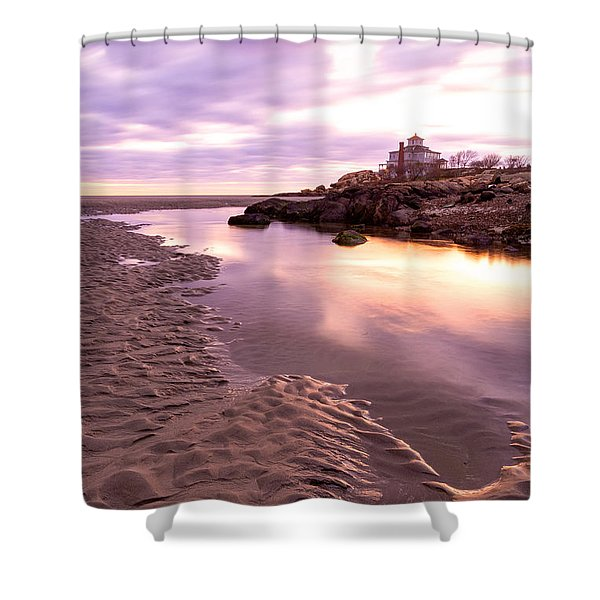 Morning Glow Good Harbor Shower Curtain