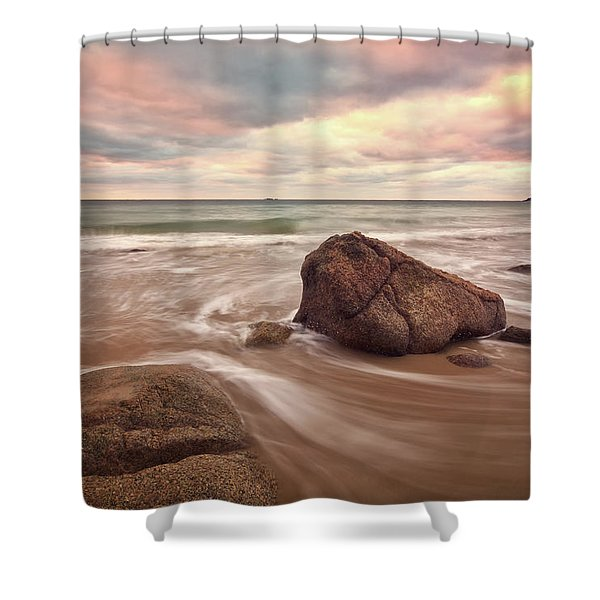 Morning Glow Singing Beach Ma Shower Curtain