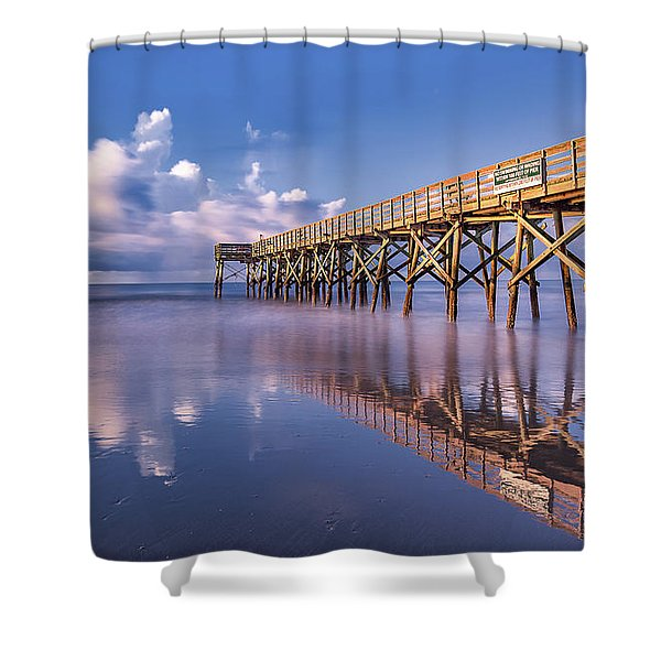 Morning Gold - Isle Of Palms, Sc Shower Curtain