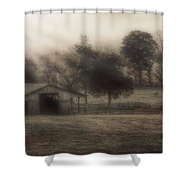 Morning In Boxley Valley Shower Curtain