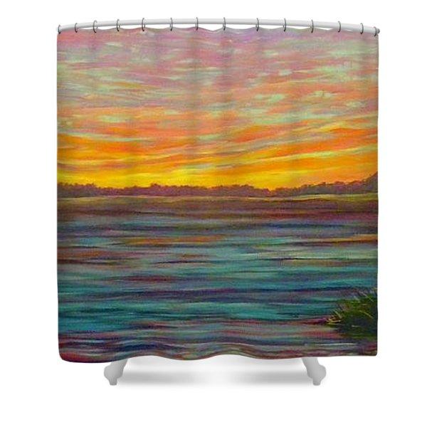 Southern Sunrise Shower Curtain