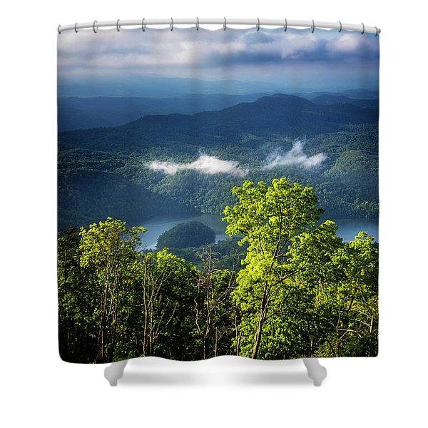 Morning In The Blue Ridge Mountains Shower Curtain
