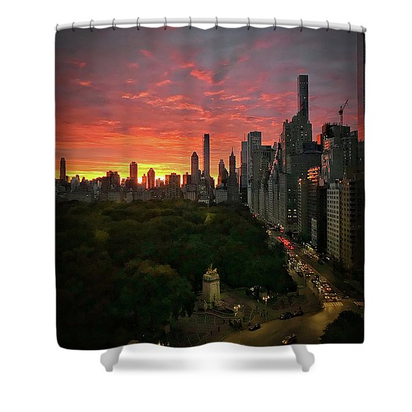 Morning In The City Shower Curtain