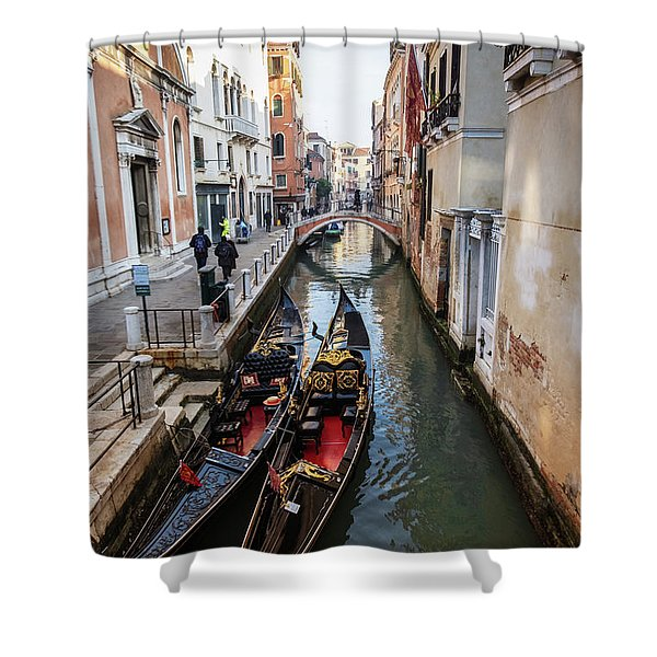 Morning In Venice In Winter Shower Curtain