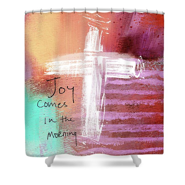 Morning Joy- Abstract Art By Linda Woods Shower Curtain