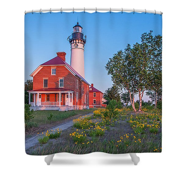 Morning Light At Au Sable Point Shower Curtain