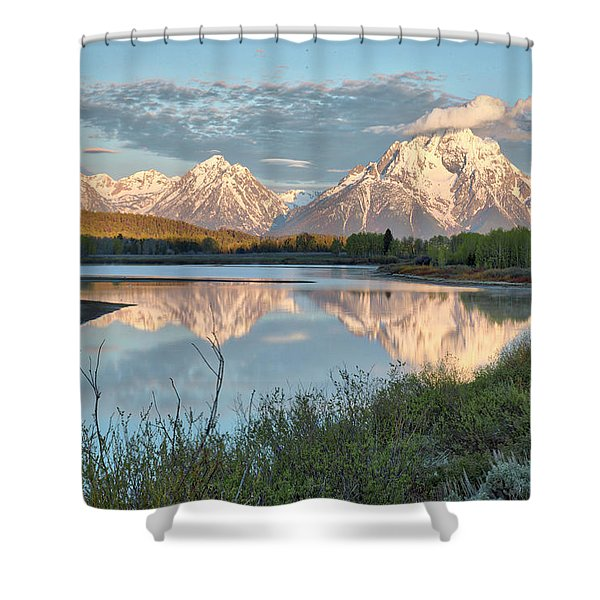 Morning Light At Oxbow Bend Shower Curtain