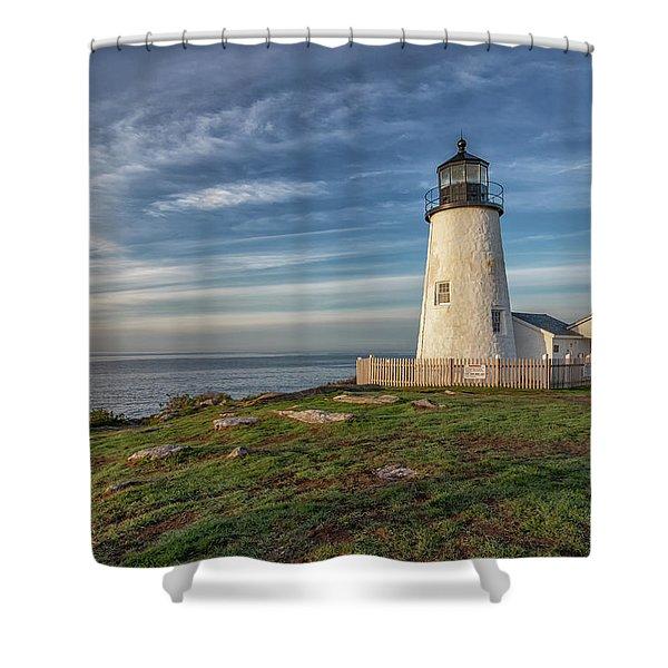 Morning Light At Pemaquid Point Shower Curtain