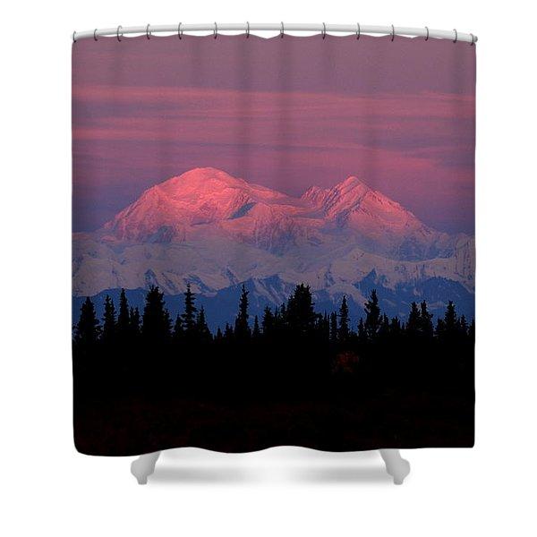 Morning Light On Denali Shower Curtain
