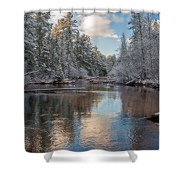 Morning Light On Grand Marais Creek Shower Curtain