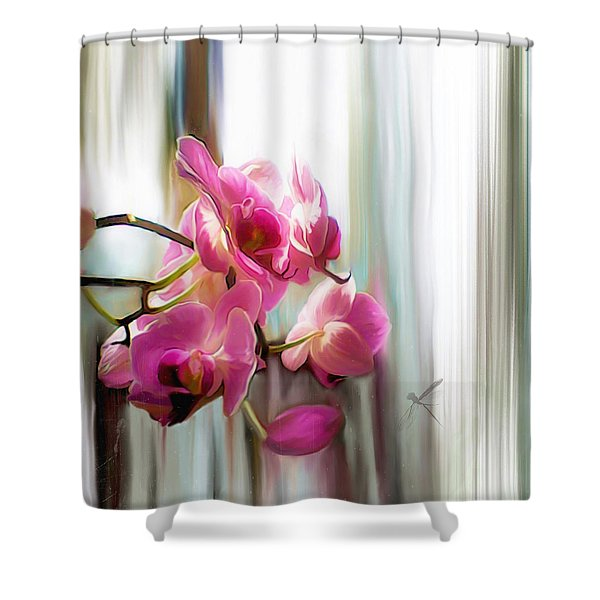 Morning Light Orchids Shower Curtain