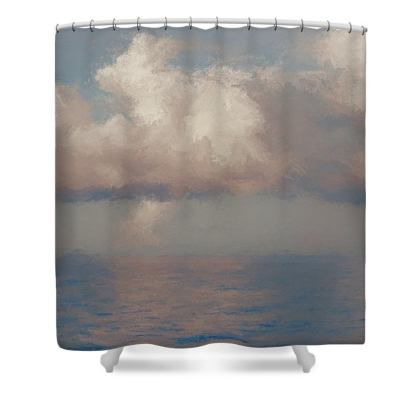 Shower Curtain featuring the painting Morning Lights by Rosario Piazza