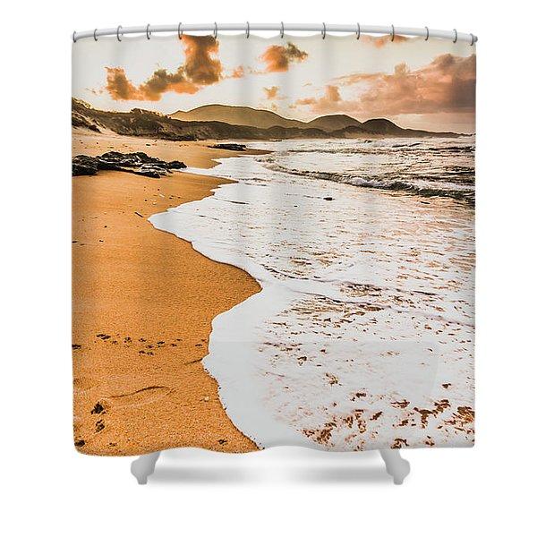 Morning Marine Wash Shower Curtain