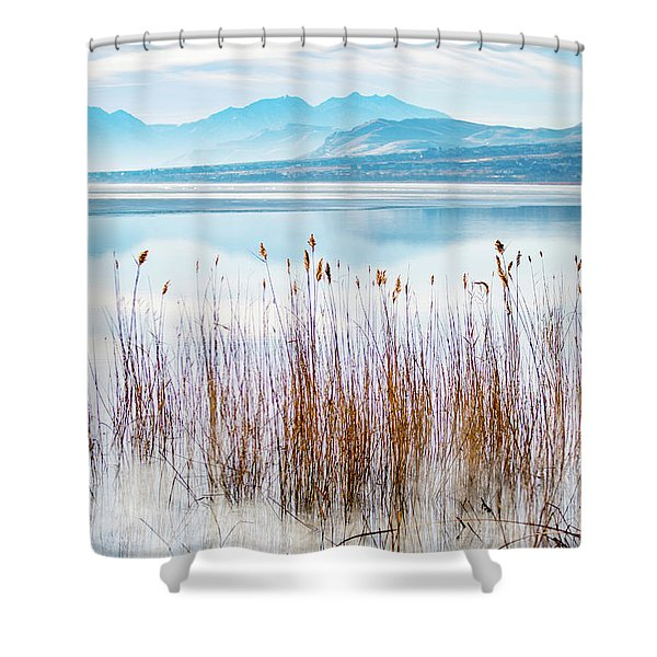 Morning Mist On The Lake Shower Curtain