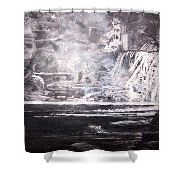 Morning Mist -theresa Falls Shower Curtain