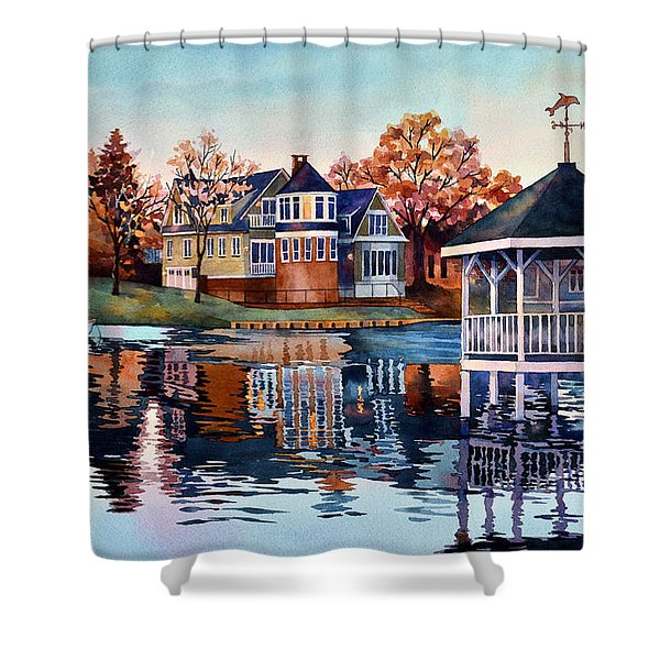 Morning On Silver Lake Shower Curtain
