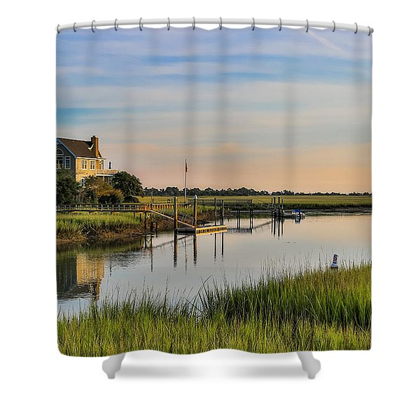Morning On The Creek - Wild Dunes Shower Curtain