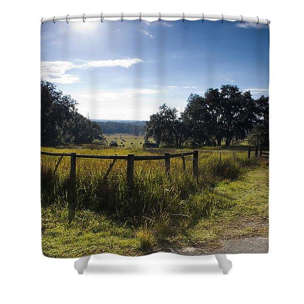 Morning On The Farm Shower Curtain