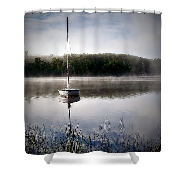 Morning On White Sand Lake Shower Curtain