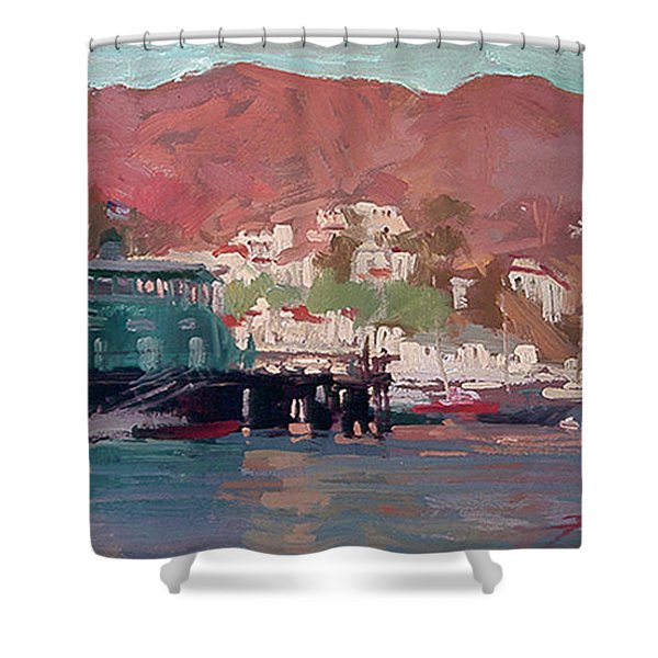 Morning Pleasures - Catalina Harbor Shower Curtain