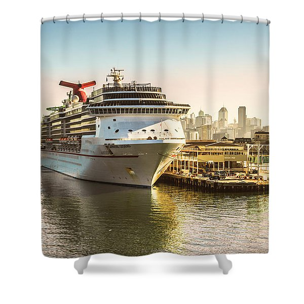 Morning Port Shower Curtain