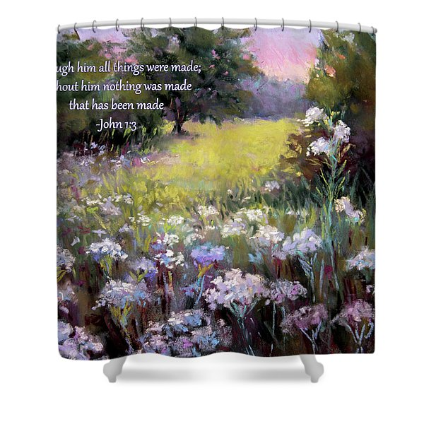 Morning Praises With Bible Verse Shower Curtain