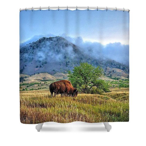 Morning Shift Shower Curtain