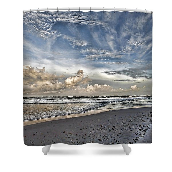 Morning Sky At The Beach Shower Curtain