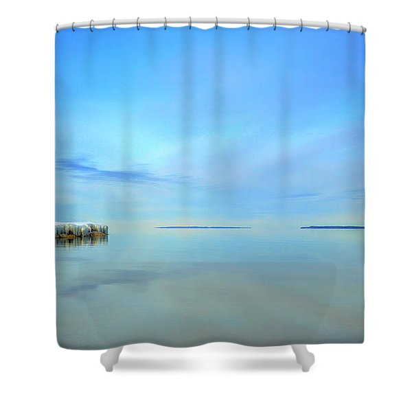 Morning Sky Reflections Shower Curtain