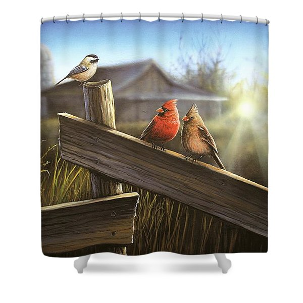 Morning Song Shower Curtain