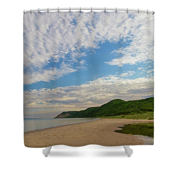 Shower Curtain featuring the photograph Morning Stroll by Heather Kenward