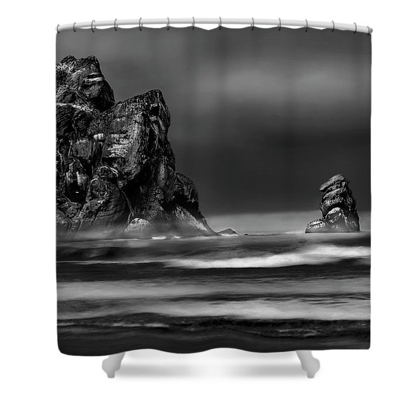 Morning Swell Shower Curtain