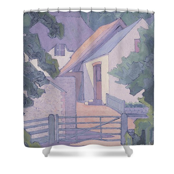 Morning, The South Downs, 1906  Shower Curtain