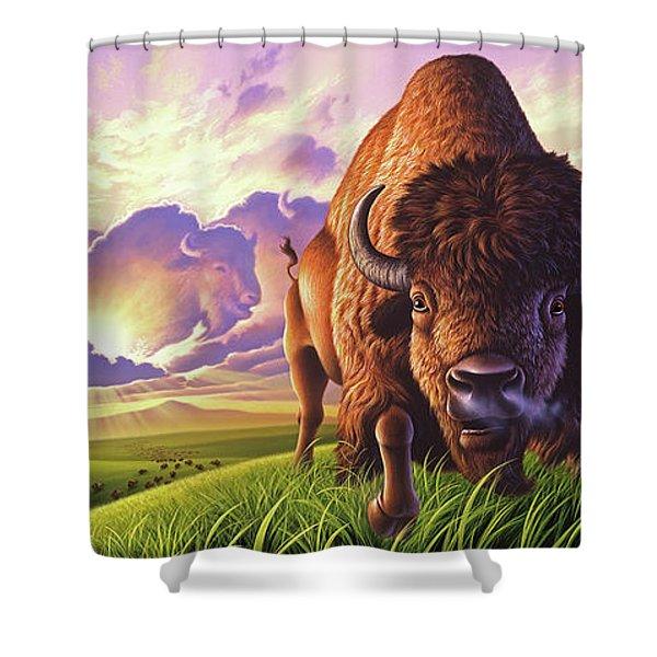 Morning Thunder Shower Curtain