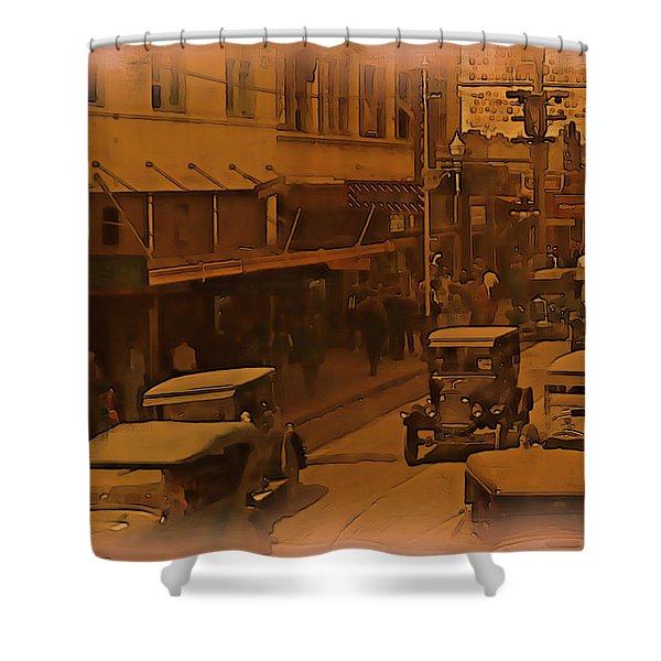 Shower Curtain featuring the digital art Morning Traffic by Tristan Armstrong