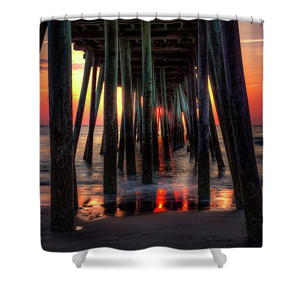 Morning Under The Pier Shower Curtain