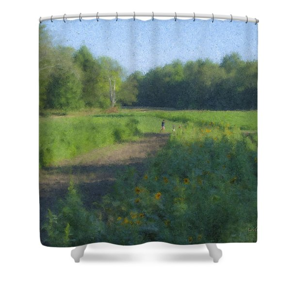 Morning Walk At Langwater Farm Shower Curtain