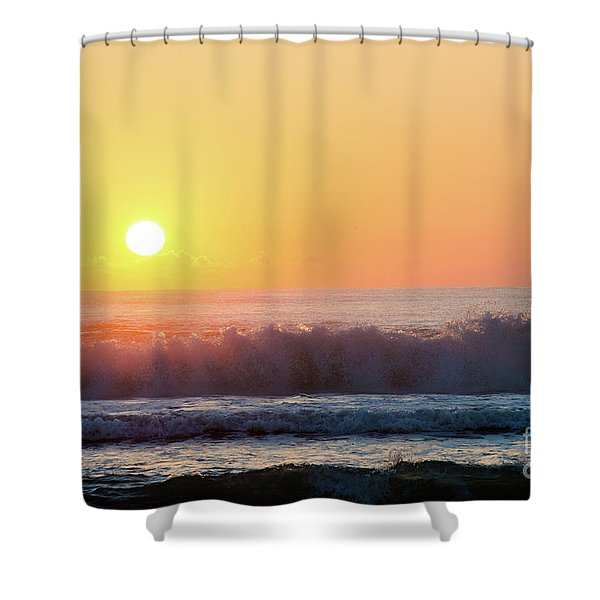 Morning Waves Shower Curtain