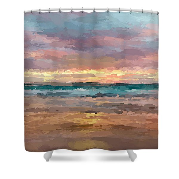 Morning Beachscape Shower Curtain