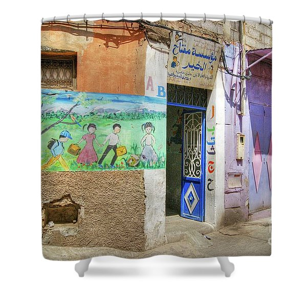 Moroccan Nursery School Shower Curtain