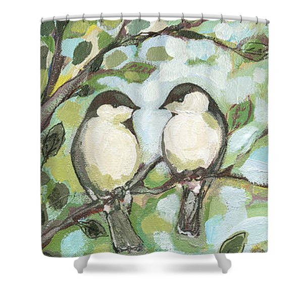 Mo's Chickadees Shower Curtain