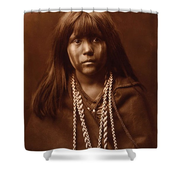 Mosa, Mohave Girl, By Edward S. Curtis, 1903 Shower Curtain