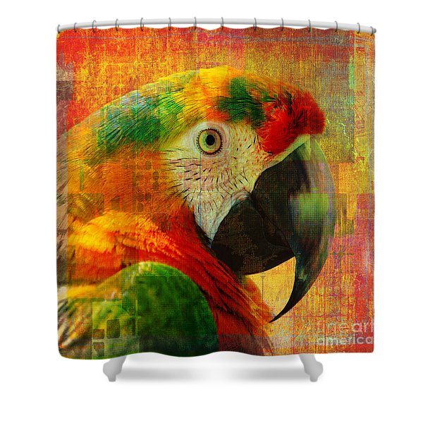 Mosaic Macaw 2016 Shower Curtain