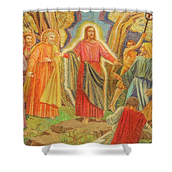 Mosaic Of Arresting Of Jesus Shower Curtain