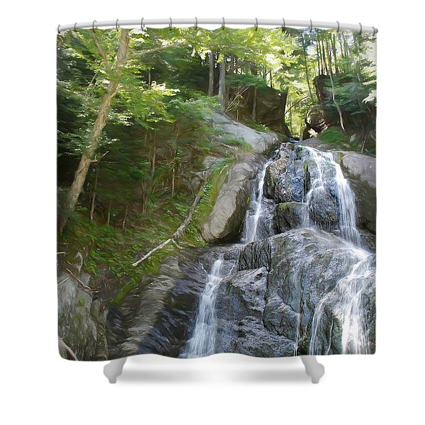 Mose Glenn Falls Granville Vt. Shower Curtain